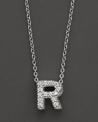 Roberto Coin - Metallic 18k White Gold Love Letter Initial Pendant Necklace - Lyst