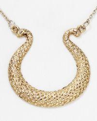 "Rose Pierre | Metallic Triton Pendant Necklace, 16"" | Lyst"