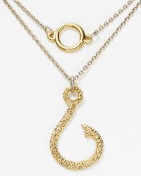 Rose Pierre | Metallic Snelled Fish Hook Necklace 16 | Lyst