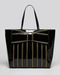 Zac Zac Posen Tote Shirley Patent Shopper In Black Lyst