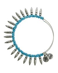 ALEX AND ANI - Blue Spike Of Confidence Bangle - Lyst