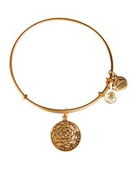 ALEX AND ANI | Metallic My Other Half Expandable Wire Bangle | Lyst