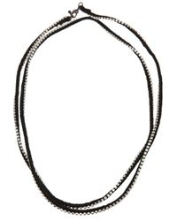 Alyssa Norton - Black Rhinestone Wrap Necklace - Lyst