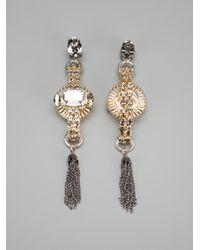 Anton Heunis - Metallic Tassel Earrings - Lyst