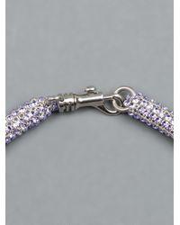 Atelier Swarovski - Blue Tubular Crystal Necklace - Lyst