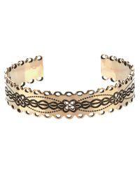 Aurelie Bidermann - Metallic Scalloped Torque Bracelet - Lyst