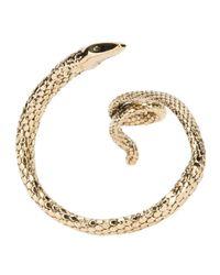 Aurelie Bidermann - Metallic Coiled Snake Cuff - Lyst