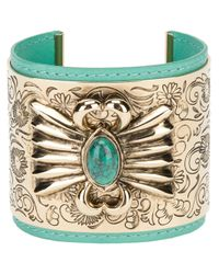 Aurelie Bidermann | Green Etched Layered Cuff | Lyst