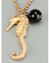 Bex Rox - Metallic Seahorse Necklace - Lyst