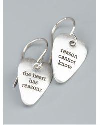 Bjorg - Metallic The Heart Has Its Reasons Earrings - Lyst