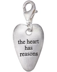 Bjorg | Metallic The Heart Has Its Reasons Pendant | Lyst