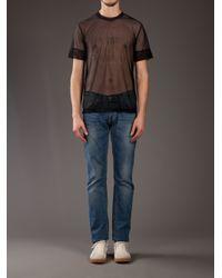 Blaak - Black Printed Mesh T-shirt for Men - Lyst