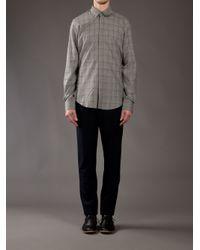 Blaak   Gray Glencheck Shirt for Men   Lyst