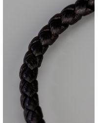 Bottega Veneta | Black Woven Leather Bracelet for Men | Lyst