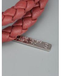 Bottega Veneta   Brown Woven Leather Bracelet for Men   Lyst