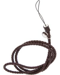 Bottega Veneta | Brown Woven Leather Necklace | Lyst