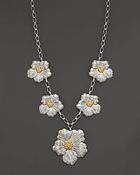 Buccellati - White Blossom 1 Large 4 Medium Flower Necklace with Gold Accents 19 - Lyst