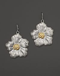 Buccellati - Metallic Blossom Medium Drop Flower Earrings with Gold Accents - Lyst