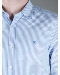 Burberry Brit - Blue Striped Shirt for Men - Lyst