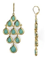 Carolee | Green Chandelier Earrings | Lyst