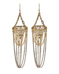 Clemmie Watson | Metallic Cage Skull Earring | Lyst