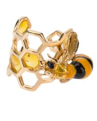 Delfina Delettrez | Metallic Honeycomb Ring | Lyst