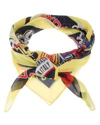 DSquared² | Multicolor Logo Printed Scarf for Men | Lyst