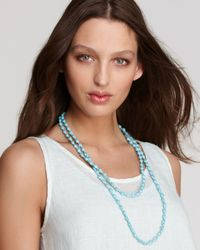 Eileen Fisher | Blue Beaded Necklace | Lyst