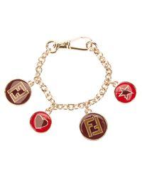 Fendi | Red Charm Bracelet | Lyst