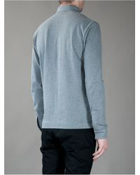 Fred Perry - Gray Long Sleeve Polo for Men - Lyst