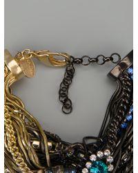Iosselliani - Metallic Rams Head Crystal Tangled Bracelet - Lyst