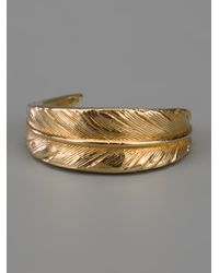 Iosselliani - Metallic Stack Feather Ring Set - Lyst