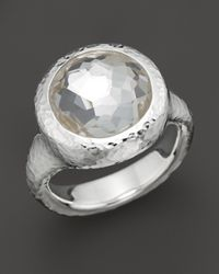 Ippolita - Metallic Sterling Silver Rock Candy Round Ring In Clear Quartz - Lyst
