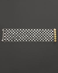 John Hardy - Metallic Dot 18K Gold And Silver Wide Link Bracelet - Lyst