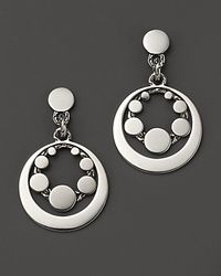 John Hardy | Metallic Dot Sterling Silver Round Drop Earrings | Lyst