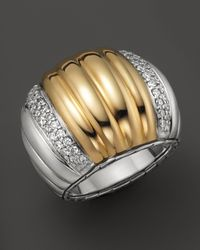 John Hardy | Metallic Bedeg 18k Gold and Silver Dome Ring with Diamonds | Lyst