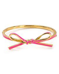 kate spade new york | Pink Skinny Mini Bow Bangle | Lyst