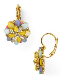 kate spade new york | Multicolor Bungalow Bouquet Leverback Earrings | Lyst