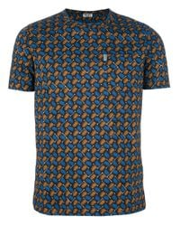 KENZO | Orange Printed Tshirt for Men | Lyst