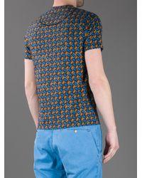 KENZO - Orange Printed Tshirt for Men - Lyst
