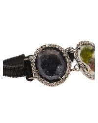 Kimberly Mcdonald - Black Macramé Bracelet with Triple Diamond Pavé - Lyst