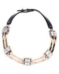 Lanvin - Black Crystal Embellished Necklace - Lyst