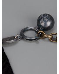 Lanvin - Metallic Cloverleaf Necklace - Lyst