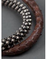 Laura B - Brown Snake Skin Bracelet for Men - Lyst