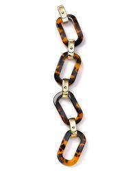 Lauren by Ralph Lauren | Metallic Tortoise Shell Large Link Bracelet | Lyst