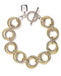 Lauren by Ralph Lauren - Gray Two Tone Chain Link Bracelet - Lyst