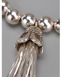 Loree Rodkin - Metallic Tasseled Beaded Bracelet - Lyst