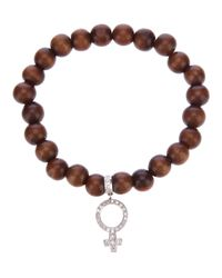 Loree Rodkin | Brown Beaded Bracelet | Lyst