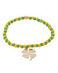 Luis Morais | Orange Clover Bracelet | Lyst