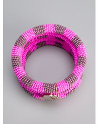 Boutique Moschino - Pink Afreaka Bangle - Lyst